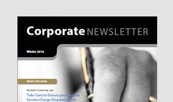 Edwin Coe Newsletter Winter 2016