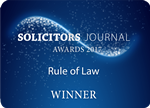 Rule of Law award at the Solicitors Journal Awards 2017