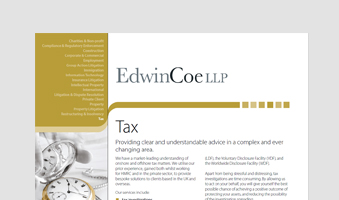 Tax Factsheet