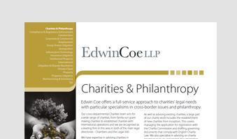 Charities & Philanthropy Factsheet
