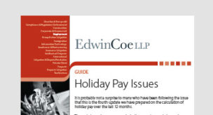 Holiday pay issues