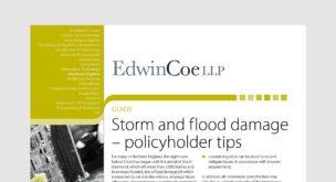 Storm and flood damage - policyholder tips