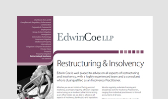 Restructuring & Insolvency (Non-Contentious)