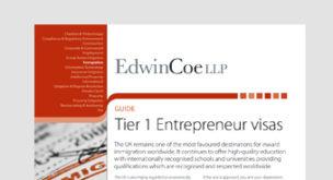 Tier 1 Entrepreneur visas