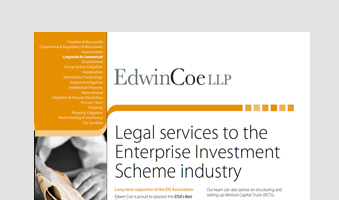 Legal Services to the Enterprise Investment Scheme Brochure and Work
