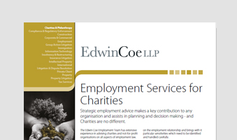 Employment Services for Charities Factsheet