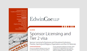 Sponsor Licensing and Tier 2 visa
