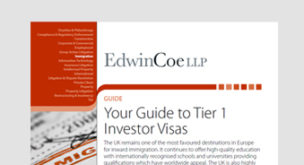 Your Guide to Tier 1 Investor Visa