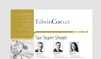 Tax Team Sheet