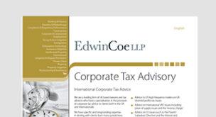 Corporate Tax Advisory
