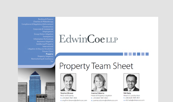 Property Team Sheet