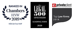 Chambers HNW, Legal 500 and eprivateclient top law firms