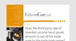 Does the third party sale of branded second-hand goods amount to use of the trade mark by the trade mark owner?