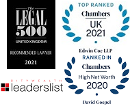 Legal 500, Chambers UK, Chambers HNW and Citywealth leaderslist