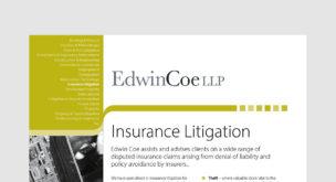 Insurance Litigation Factsheet